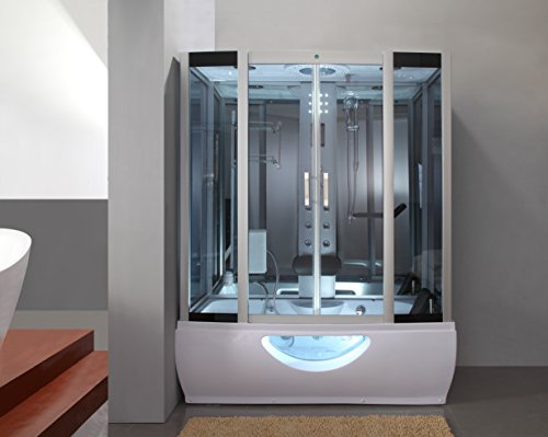o Glass Steam Shower Enclosure with 6 Waterjets (Glass Steam Shower)