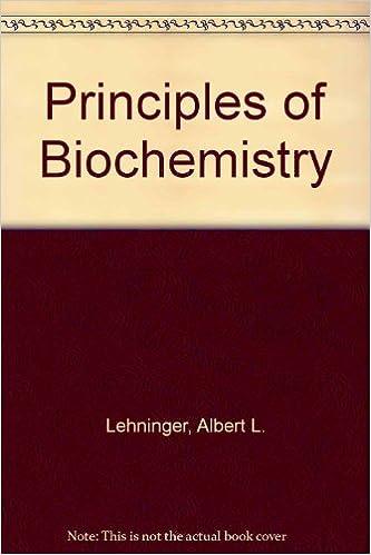 Principles Of Biochemistry Amazon Albert L Lehninger David