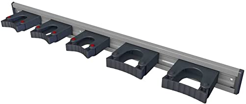 Toolflex Aluminum Rail 90cm 36 with 5 Mounted Tool Holders. 473-556-1