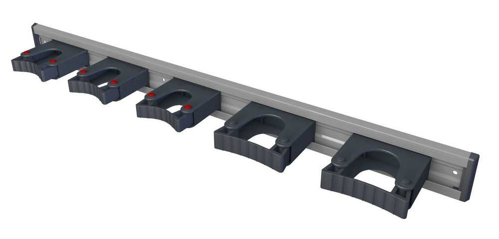 Toolflex Aluminum Rail 90cm (36'') with 5 Mounted Tool Holders. 473-556-1