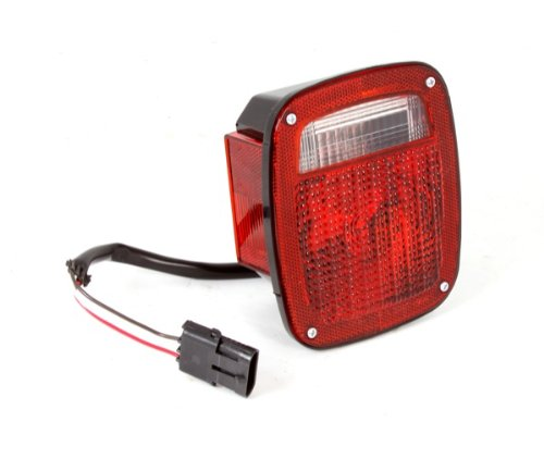 Omix-Ada 12403.11 Left Hand Tail Light with Black Housing