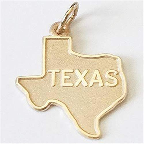 America Pendant Jewelry - 30PCS Texas America State Map Charms Pendants DIY for Jewelry Making and Crafting (Gold)