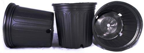 - 50 NEW Plastic Nursery 2 Gallon Trade POT ~ Actual Volume: 1.593 Gallons by Nursery Supplies