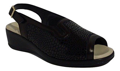 SUSIMODA - Sandalias de vestir de Piel para mujer negro negro