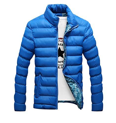 Homme Coton Mode Outdoor Blousons Automne Jackets Chaud Bleu Veste Printemps Manteau Hivers O4OcUfpr