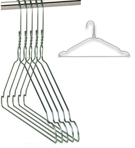 25 VERZINKTE Draht-Kleiderbügel - mit Einkerbungen - für den Hausgebrauch, Chemische Reinigung, Einzelhandel Notched Skippys