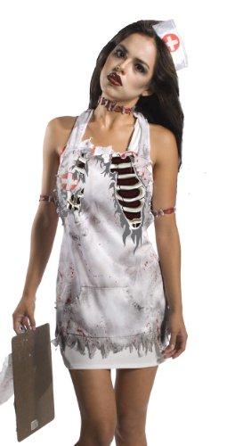 [Rubie's Costume Co Zombie Nurse Apron Costume] (Zombie Nurse Costumes)