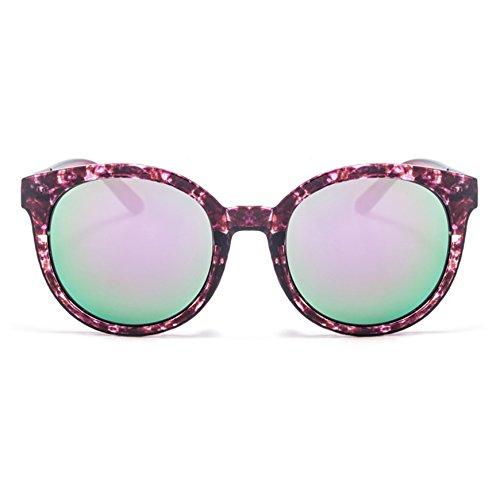 TIME100-la série de Smileyes Lunettes de soleil femme/homme rétro monture de lunette à un polygone et multicolore verre de lunette à la mode changement graduel2017 TSGL065 Violet