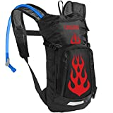 CamelBak Kids Mini M.U.L.E. Crux Reservoir Hydration Pack, Black/Flames, 1.5 L/50 oz