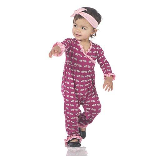 a70c062edeb9 Kickee Pants Print Long Sleeve Kimono Ruffle Romper - Buy Online in Oman.