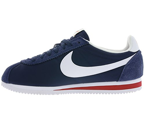 Nike - Classic Cortez Nylon Prem - 876873400 - Color: Azul marino-Blanco - Size: 46.0