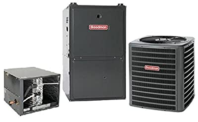 3 Ton Goodman 14.5 SEER R410A 96% AFUE 60,000 BTU Two-Stage Variable Speed Horizontal Gas Furnace Split System