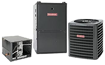 5 Ton Goodman 16 SEER R410A 96 AFUE 120,000 BTU Two-Stage Variable Speed Horizontal Gas Furnace Split System