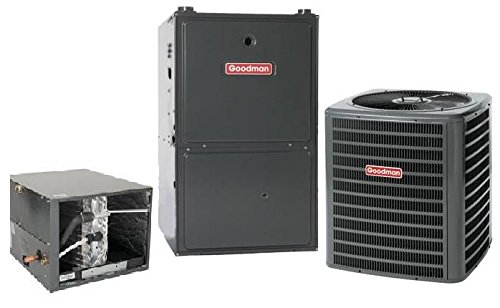 (5 Ton Goodman 16 SEER R410A 96% AFUE 120,000 BTU Two-Stage Variable Speed Horizontal Gas Furnace Split System )