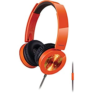 Panasonic RP-HXS400M-D Sound Rush Plus On-Ear Headphones, Orange