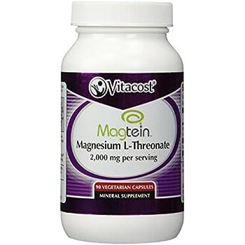 Vitacost Magtein Magnesium L-Threonate -- 2000 mg - 90 Vegetarian Capsules