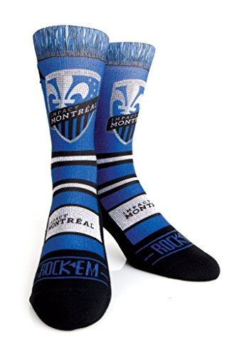fan products of Rock 'Em Apparel MLS Montreal Impact Soccer Custom Athletic Crew Socks (Scarf, S/M (6-8.5))
