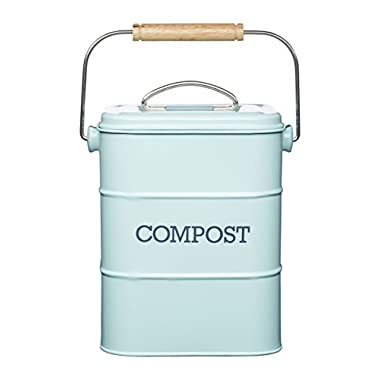 Kitchen Craft Living Nostalgia Vintage Blue Compost Bin LNCOMPBLU
