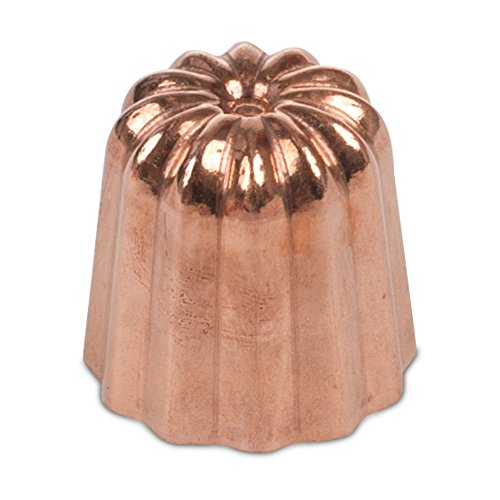 Matfer Cannele Copper Mold 1.4-inches Diameter