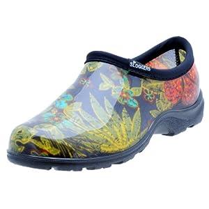 Sloggers Women's Waterproof Rain and Garden Shoe with Comfort Insole, Midsummer Black, Size 9 Style 5102BK09