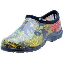 Sloggers  Women's Waterproof  Rain and Garden Shoe with Comfort Insole, Midsummer Black, Size 10,  Style 5102BK10