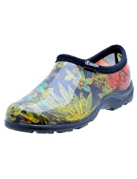 """Principle Plastics Sloggers Women's Rain and Garden Shoe with """"All-Day-Comfort"""" Insole, Midsummer Black Print-Wo's Size 9-Style 5102BK09"""