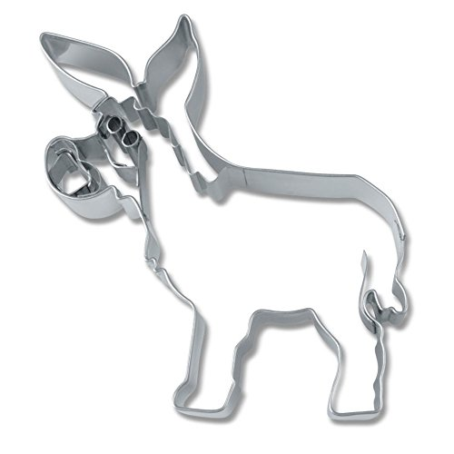 Moldes Burro con relieve, aprox. 7.5 cm, acero inoxidable ...
