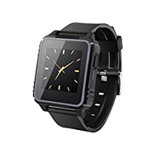 Waterproof Watch Phone Compatible with IOS & Android,Use for Surfing,Beach, Hiking, Kayaking, Fishing & Swimming (grey)