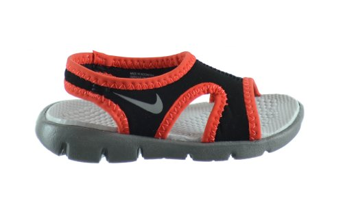 Nike Sunray 9 (TD) Baby Toddlers Sandals Black/Clay Grey-Light Crimson-Wolf Grey 344636-004 (3 M US)
