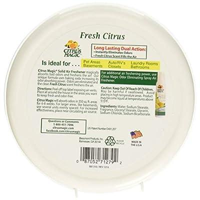 Citrus Magic Solid Air Freshener Fresh Citrus, 8-Ounce: Health & Personal Care