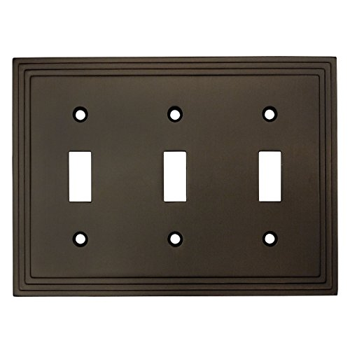 - Cosmas 25037-ORB Oil Rubbed Bronze Triple Toggle Switchplate Wall Switch Plate Cover
