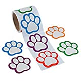 Paw Print Name Tags/Labels -100 ct