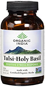 ORGANIC INDIA Tulsi - Holy Basil Supplement - Made with Certified Organic Herbs (Vegetarian Capsules, 180 Count)