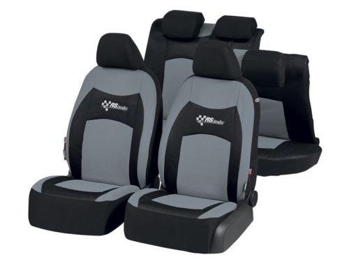 Ultimate Speed Autositzbezug-Set RS-R Universal Autositzbezüge Sitzbezug Schonbezug Schonbezüge RS Racing Schwarz-Grau Ultimatespeed