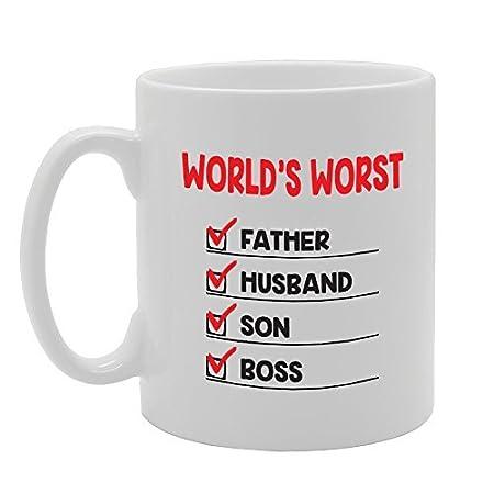 Lo peor del mundo Padre hunsband hijo Boss único Present ...