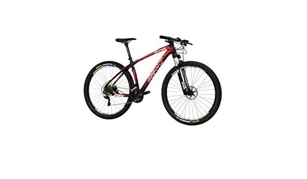 Monty M9 - Bicicleta de montaña, Color Negro/Rojo, 17