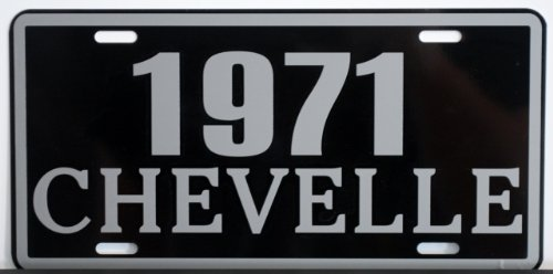 Motown Automotive Design 1971 71 Chevelle Metal License Plate SS Super Sport 327 350 396 454 FITS Chevy TAG 6 X 12 HOT Rod Muscle CAR Classic Museum Collection Novelty Gift Sign
