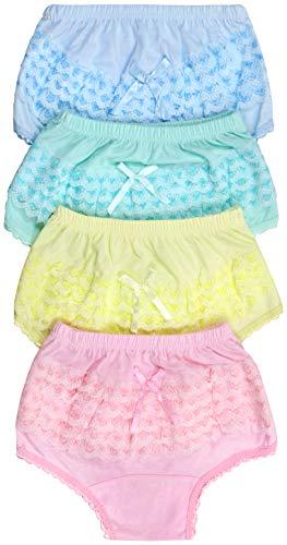 ToBeInStyle Girl's Pack of 4 Cotton Ruffle Hem Panties - Ruffle Back - Size 3]()