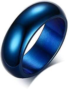 خاتم للجنسين لون ازرق مقاس 11