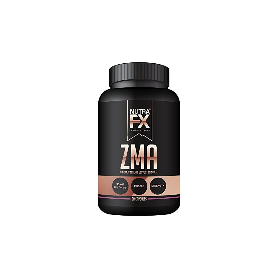 ZMA 90 Capsules NUTRAFX Post Workout Supplement Benefits Muscle Growth, Strength, and Sleep
