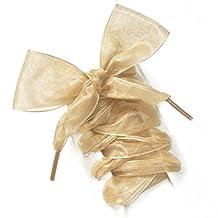 Shoe Laces,Plaids Pattern Casual Flat Satin Ribbon Shoelaces 4cm Wide Sneaker Shoestrings for Women Girls …