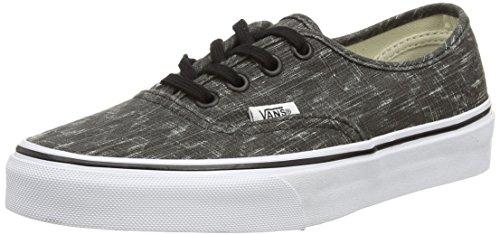 Vans True Nero Denim Denim Unisex Authentic White U Black Chevron Sneakers Black Chevron CxFCHaP