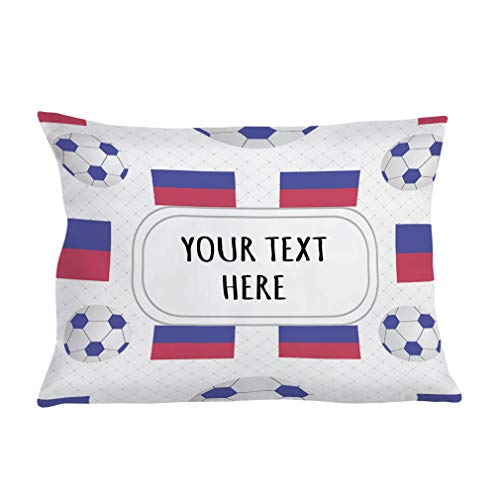 Style In Print Personalized Pillow Case Haiti Country Flag Soccer Polyester Pillow Cover 20INx28IN Custom Text Here One - Country Haiti Flag