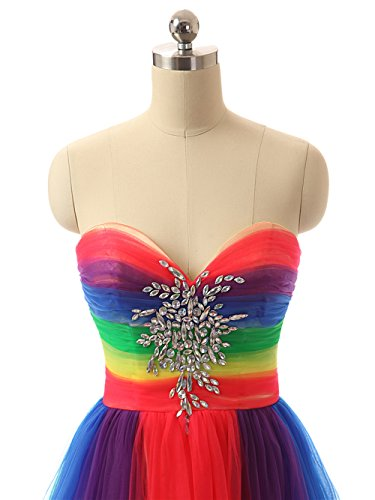 Innamorato Arcobaleno Da Promenade Sera Colorato Abiti Multicolore Colorato Jaeden Lunga Dell'abito qWw18IPWxg