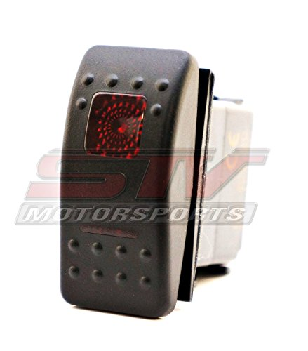 STVMotorsports Red Auto Rocker Switch ON/ON/Off 12V LED Light 3 Positions 6 Pin Waterproof for LED Light Bar Off Road