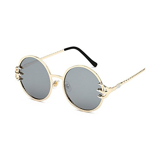 Plata La Gafas Metal Sol SunglassesMAN de Color Yxsd Unisex Round Plata La PvBqWCUxw5