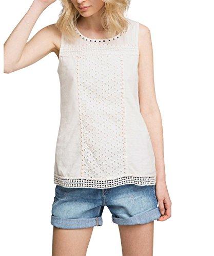 Esprit Embro Top - Camiseta sin mangas Mujer Blanco