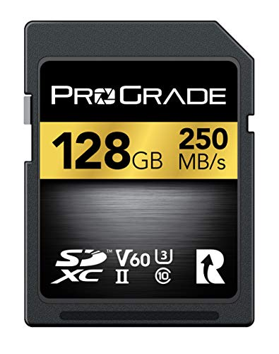 SD Card V60 (128GB) -Up to 130MB/s Write Speed and 250MB/s Read Speed | for Professional Vloggers, Filmmakers, Photographers & Content Curators – Update Firmware Included – by ProGrade Digital