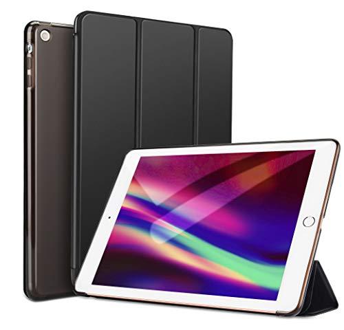 Soke iPad Mini 3 2 1 Case, Ultra Slim Lightweight Smart Case [Trifold Stand] [Auto Wake/Sleep] with Translucent Clear Soft TPU Back Cover for Apple iPad Mini 3/Mini 2/Mini 1, Black