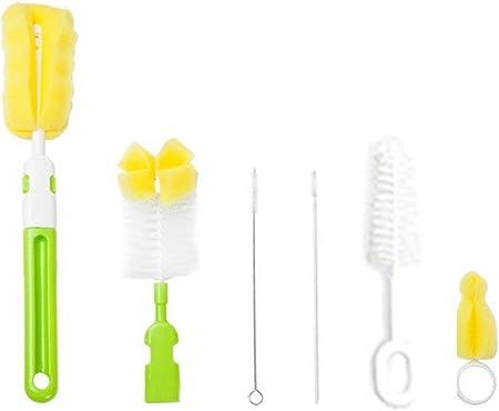 Set de Cepillo para Biberones,Cepillo de Limpieza,Limpieza de Biberón Escobilla para Limpiar Biberón Botella para bebé(6pcs/color aleatorio)